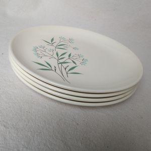 Vintage Simple Floral Sandwich Plates